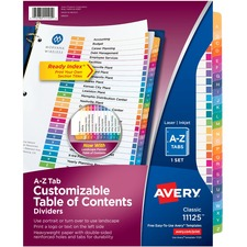 Avery Ready Index A